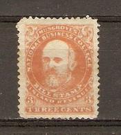 Canada 1860 - Vignette Locale - US Musgrove's National Business College - 3 Cents - Vignettes Locales Et Privées