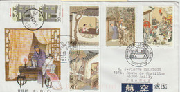 Chine. China 2001 FDC Pour La France. Strange Stories From A Chinese Studio.  聊齋誌異 - Covers & Documents