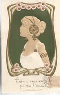 JP / Superbe CPA Carte Postale FEMME ART NOUVEAU Gaufrée - Women