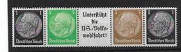 Deutsches Reich, Einheitsgeberstreifen I Der Hindenburg-Ausgabe Von 1939 - Se-Tenant