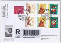 Michel 2274-2276 Auf Illustriertem R-Brief - 22. Alpine Ballonpost Für Das Ballonmuseum - OS RUSWIL - Altri Documenti