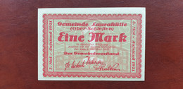 Gemeinde Laurahütte Ober-Schlesien 1 Mark 1921   /21.11 - [11] Emissions Locales