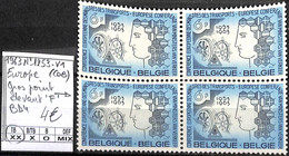 [849372]TB//**/Mnh-Belgique 1963 - N° 1253-V1, Conférence Européenne, Gros Point Devant 'F' Bd4 - Plaatfouten (Catalogus OCB)