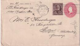 USA 1902   ENTIER POSTAL/GANZSACHE/POSTAL STATIONERY LETTRE DE CHICAGO - 1901-20