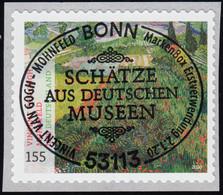 3519 Vincent Van Gogh: Gemälde Mohnfeld, Selbstklebend Aus Rolle, EV-O Bonn - Ohne Zuordnung