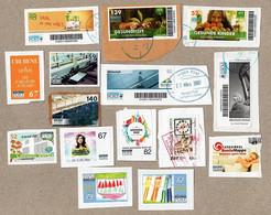 BRD - Privatpost - Morgenpost - Lot Von 15 Verschiedenen Gebrauchten Marken - Privées & Locales