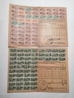 Carte De Quittance Avec Timbres Fiscaux 1875-1919 Guebwiller 5pcs - Alsace-Lorraine
