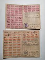 Carte De Quittance Avec Timbres Fiscaux 1875-1919 Metz 5pcs - Alsace-Lorraine