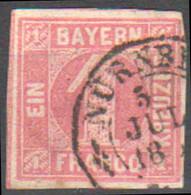 323/  Mi: 3    Used; 1850 - Bavaria