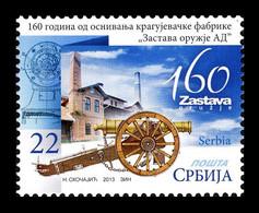 Serbia 2013 Mih. 534 Manufacturer Of Firearms And Artillery Zastava Oruzje MNH ** - Serbia