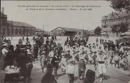 """SEDAN - Sté Gymnique Et Musicale """"La Jeanne D'Arc"""" Du Patronage De Charleville  Le 31 Mai 1908 - Sedan"""