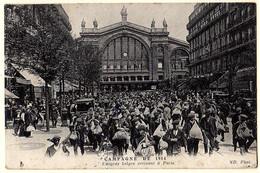 75 - B19895CPA - PARIS - Emigres Belges Arrivant A Paris, Campagne 1914 - Très Bon état - PARIS - Métro Parisien, Gares