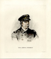 Print 1920 France Fleet French Navy Admiral Amiral Charles-Eugène Favereau - Prints & Engravings