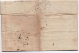 Rare Timbre à Date Précurseur Local Arrivée BASTIA CORSE 31 Aout 1815 / Lettre Avec Correspondance De MARSEILLE - 1801-1848: Précurseurs XIX