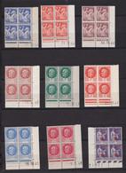 Un Lot De 26 Blocs France  Coin Datés  Coins Datés Type : Chaîne -Iris - Paix - Pétain - Cérès - Mercure  &  N° 322 - 1940-1949