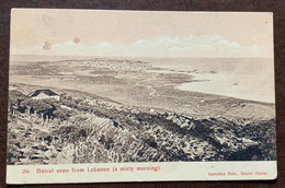 BEIRUT - SEEN FROM  LEBANON -  POSTCARD WITH   1 P. LEVANT YA  8 1912 - BRITISH CONSULATE BEYROIUTH TO FLORENCE - Monde