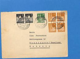 Allemagne Bizone 1949 Lettre De Dusseldorf à La Suisse (G2858) - Zone Anglo-Américaine