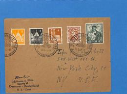 Allemagne Bizone 1948 Lettre De Hanau Aux USA (G2870) - Zona Anglo-Americana