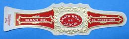 1 BAGUE DE CIGARE SANTA ROSA DE GARCIA CIGAR CO. EL PREDOMINO - Cigar Bands