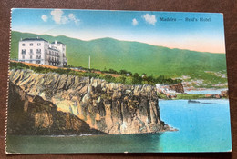 "MADEIRA - REID'S HOTEL -  POSTCARD  PAQUEBOT POSTED ON THE HIGH SEAS Violet Cachet R.M.S.P ""ATLANTIS "" 14 OCT 1925 - Monde"