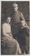 (F23980) Orig. Foto Deutscher Soldat 1. WK Mit Frau U. Sohn 1914-18 - Oorlog, Militair