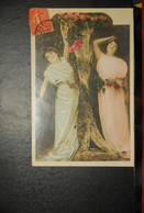 CP, Deux Femmes Aux Fleurs  N° 2 - Femmes