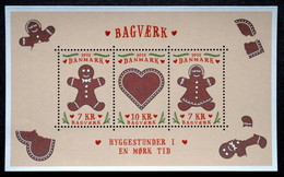 Denmark 2015 Danish Honey Cakes  Minr.1857-59   Block 61  MNH  (**)   ( Lot   Mappe  ) - Unused Stamps