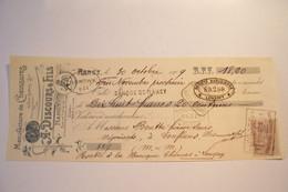 NANCY  - MANUFACTURE DE CHAUSSURES  - A DISCOURS & FILS -Rue Turique -& Notre Dame Des Anges - ( 1909 ) - Bills Of Exchange