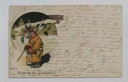 21529 Cartolina Illustrata - Wachtschiff Alter Construction - VG 1901 - Umoristiche