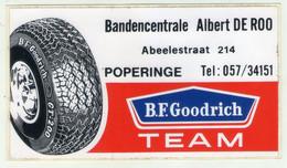 AUTOCOLLANT . STICKER . PNEUS  GOODRICH . BANDENCENTRALE ALBERT DE ROO .ABEELESTRAAT 214 POPERINGE . B.F.GOODRICH .TEAM - Adesivi