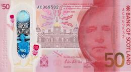 Scotland 50 Pounds 2020/2021 Bank Of Scotland Polymer  New UNC - 50 Pounds