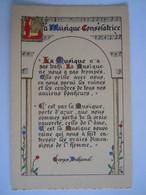 Enluminures Pensée - Georges Duhamel - La Musique Consolatrice La Musique N'a Pas Trahi. La Musique Ne Nous A Pas ... - Filosofie