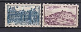 N° 759 Et 760 Monuments Et Sites Vésalay: Palais Du Luxembourg: Beaux Timbres Neuf Impeccable Sans Charnière - Unused Stamps
