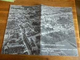 FRAMERIES:FRAMERIES 1970 DECOUVREZ VOTRE COMMUNE -DEPLIANT AVEC LES AVANT ET APRES TRAVAUX - Belgium