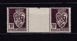 ALGERIE 1942 TIMBRE N°184  NEUF** PAIRE AVEC INTERVALLE - Nuovi
