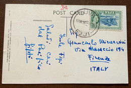 ISOLE FIJI - YOUNG FIJIANS  - POST CARD  FROM  DUVA 17/12/56 With 1/6 S. TO FIRENZE ITALIA - Monde