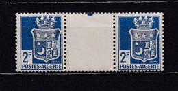 ALGERIE 1942 TIMBRE N°192 NEUF** PAIRE AVEC INTERVALLE - Nuovi