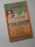 CORREZE : 1938 . BRIVE - LA - GAILLARDE ... 5° FOIRE EXPOSITION - Programma's