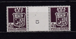 ALGERIE 1942 TIMBRE N°195 NEUF** PAIRE AVEC INTERVALLE - Nuovi