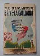 CORREZE : 1949 . BRIVE - LA - GAILLARDE ... 6° FOIRE EXPOSITION - Programma's