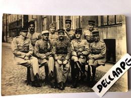 Carte Photo Militaire Décoration Pologne Mission Franco Polonaise 1920 Varsovie Warszawa Poland - War, Military