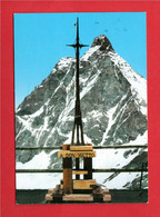 (3) Aosta -  Il MONTE CERVINO Dal FURGGEN. CROCE Ricordo A Don VIETTO ( Scultore NICOLETTAZ ) Passata Per Posta. - Other Cities