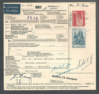 58544) Switzerland Bulletin D'Expedition 1966 Postmark Cancel Air Mail - Covers & Documents