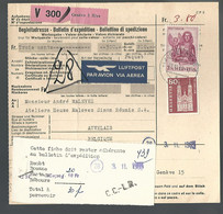 58545) Switzerland Bulletin D'Expedition 1965 Postmark Cancel Air Mail - Covers & Documents