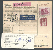 58546) Switzerland Bulletin D'Expedition 1965 Postmark Cancel Air Mail - Covers & Documents