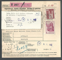 58547) Switzerland Bulletin D'Expedition 1965 Postmark Cancel Air Mail - Covers & Documents