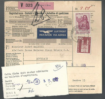 58548) Switzerland Bulletin D'Expedition 1965 Postmark Cancel Air Mail - Covers & Documents
