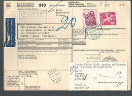 58549) Switzerland Bulletin D'Expedition 1968 Postmark Cancel - Covers & Documents