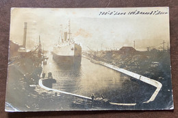 """NAVIGAZIONE -   700'- 0 """"LONG 100' BROAD 37 DEEP - POST CARD FROM GATESCHEAD AU 31 1904  TO FLORENCE ITALY - Monde"""