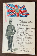 GENERAL SIR CHARLES WARREN SUPERB EARLY CHROMO POST CARD  A DONNA ANNA MARIA BORGHESE MIGLIARINO PISANO  7/10/1906 - Monde